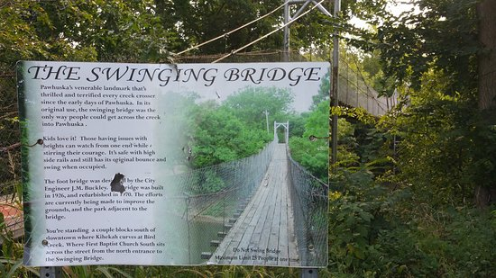 Swinging Bridge in Pawhuska